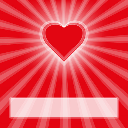 Heart with rays Vector