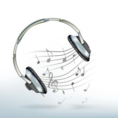 Musica da una cuffia Vettoriali