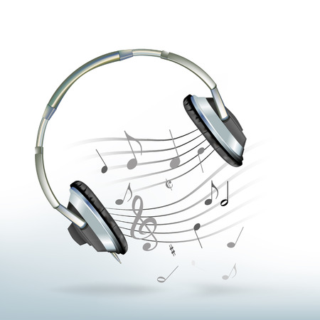 Music from a headphones Illustration