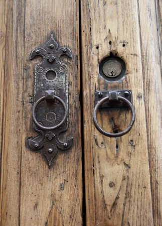 door knob: Door knob detail in Florence Italy Stock Photo
