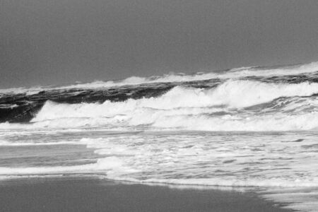 Waves on the beach in Black and White, Outer Banks, NC