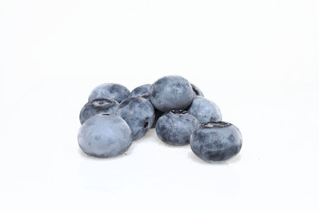 Group of Blueberries on a plain white background