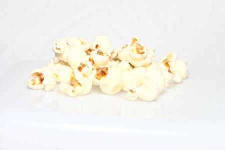 Popcorn on a plain white background 版權商用圖片