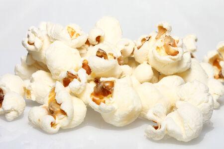 popcorn on a plain white background