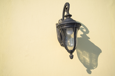 hanging lamp: Hanging lamp on the wall