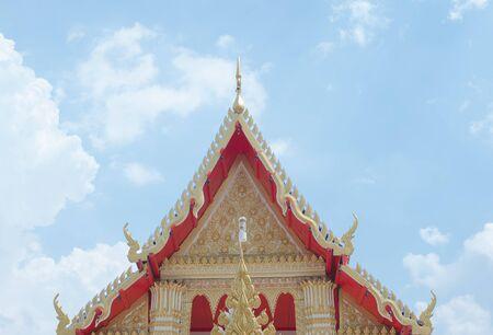 pediment: Pediment of the Buddhist Temple