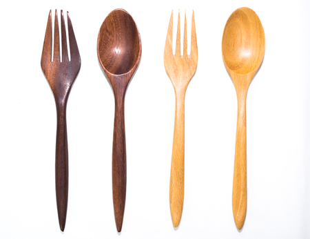 pairs: Two pairs of wooden forks and spoons