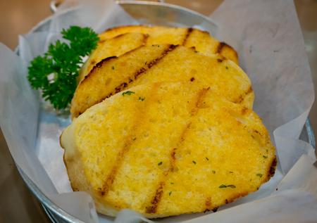 Garlic bread. Stock Photo