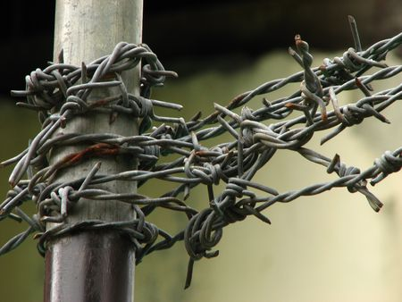 Barbed Wire Stock Photo - 3320575