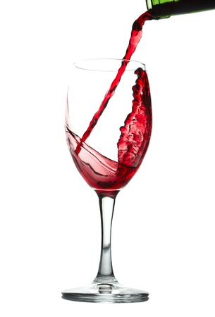 Red wine splash photo