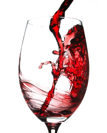 wine and food: Red wine splash Stock Photo