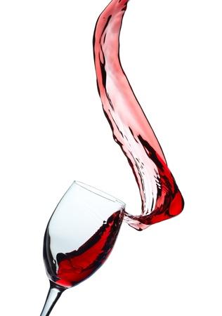wine pouring: Spruzzi di vino rosso Archivio Fotografico
