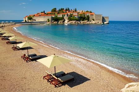 sveti: Canvas chairs on the beach