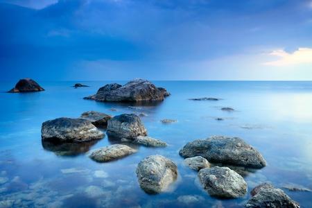 con dao: Sea stones Stock Photo