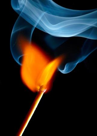 Burning match photo