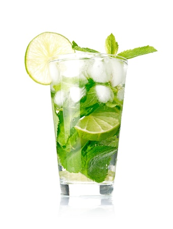 Mojito cocktail on white background Stock Photo - 13698505