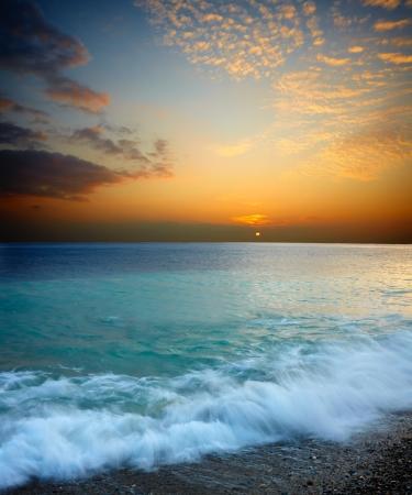 Sea sunset Stock Photo