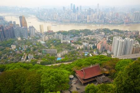 Skyscrapers and Yangtze River  Chongqing , China Stock Photo - 17051855