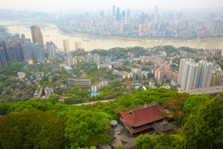 Skyscrapers and Yangtze River  Chongqing , China Stock Photo - 17051855