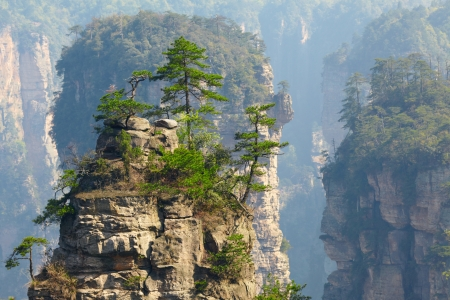 Zhangjiajie National Park, China. Avatar mountains photo