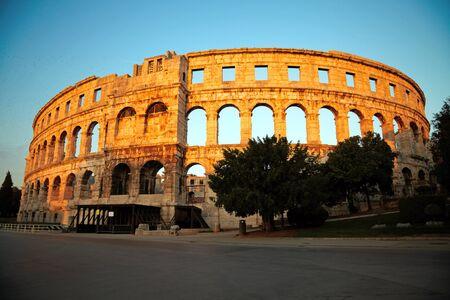 amphitheater: Ancient Roman Amphitheater. Pula, Croatia