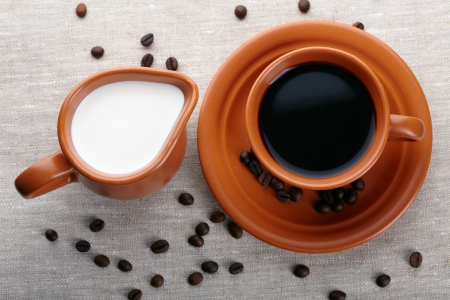 crema: Cup of coffee and cream