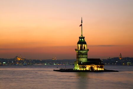 Maidens Tower (Kiz Kulesi).  Istanbul, Turkey photo