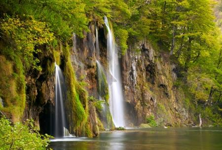 plitvice:  Waterfall  Stock Photo