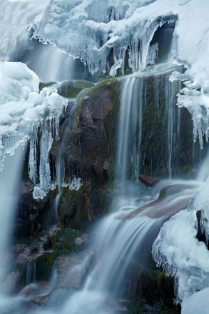 wintrily: Icy waterfall Stock Photo