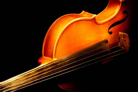 Fragment of violin Stock Photo - 16986081