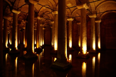 Underground Basilica Cistern (Yerebatan Sarnici) in Istanbul, Turkey photo