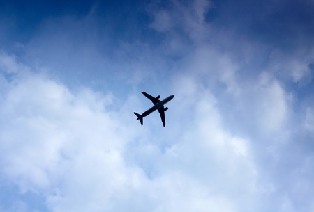 Airplane in the sky Stock Photo - 17196123