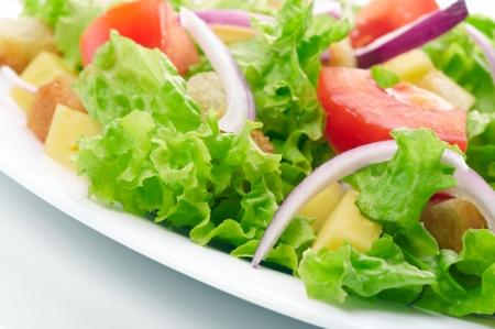 caesar salad: Salad background Stock Photo