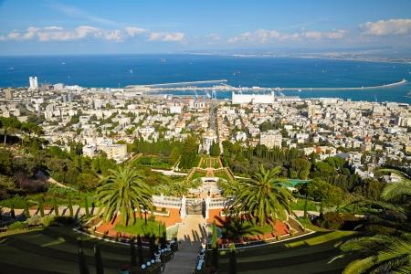 bahai: Bahai Gardens. Haifa, Israel