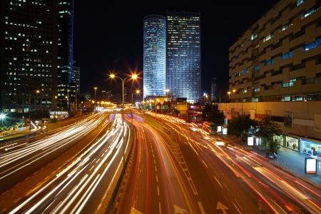 multiple exposure: Night traffic jam