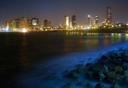 Tel Aviv. Night view from Jaffa photo