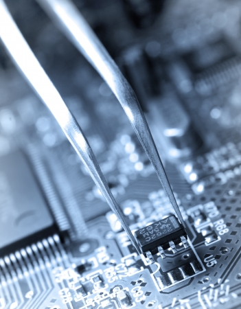 Assembling a circuit board  photo