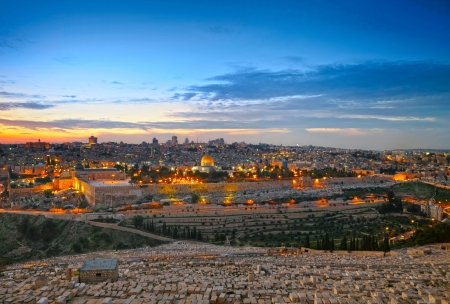 al aqsa: View to Jerusalem old city. Israel