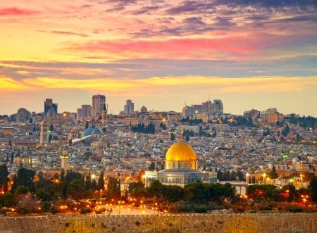 Vue sur la vieille ville de Jérusalem. Israël Banque d'images - 18224718
