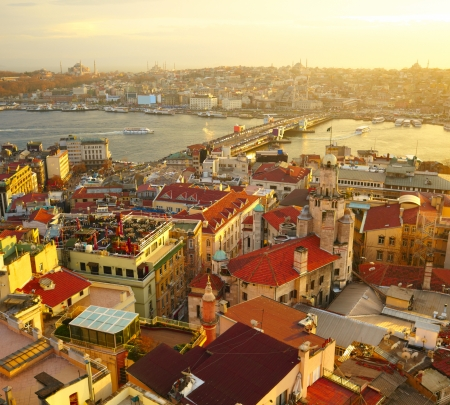 birds scenery: Istanbul Sunset Panorama