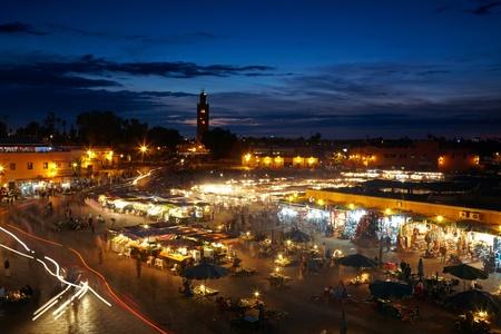el: Jemaa el fna sqare. Marrakesh, Marocco