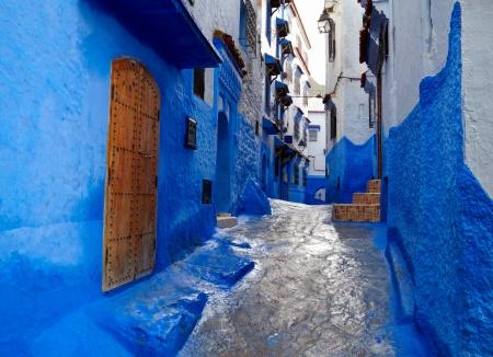 medina: Inside of moroccan blue town Chefchaouen medina Editorial