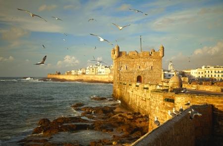 bollwerk: Essaouira Festung, Marokko, Afrika Lizenzfreie Bilder