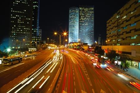 night traffic: Night traffic jam