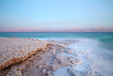 Dead Sea coastline photo