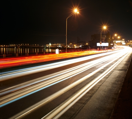 streak: Night traffic light of big city