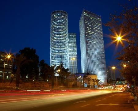 tel:  Tel Aviv night cityscape, Israel
