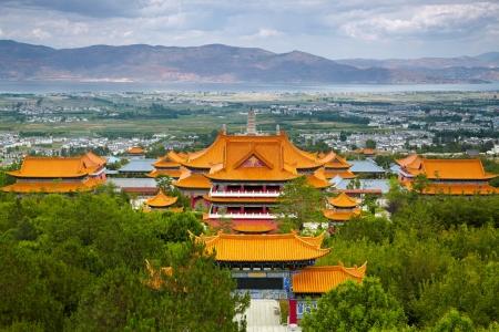 east asian culture: Chongsheng Monastery. Dali, China.
