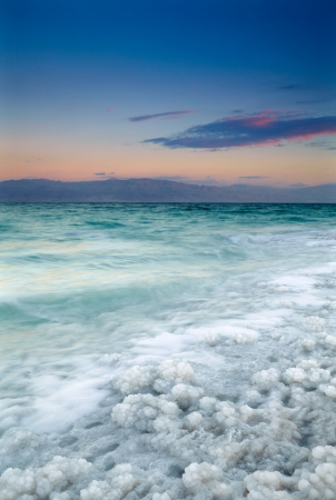 east coast: Sunrise at Dead Sea, Israel Stock Photo