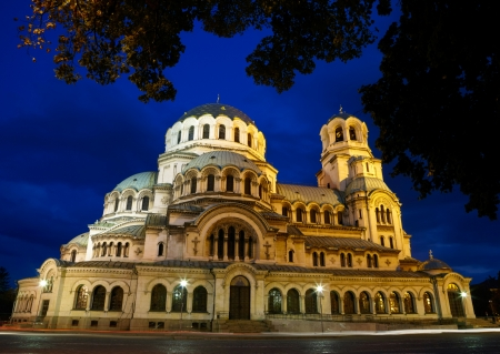 europe eastern: Alexander Nevski Cathedral in capital of Bulgaria - Sofia